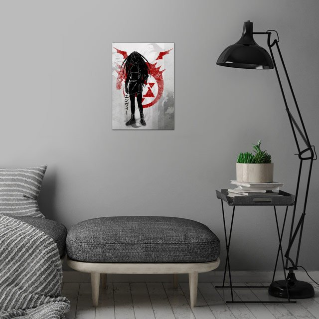 Crimson Envy wall art is showcased in interior