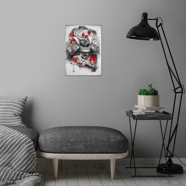 Bushido the way of the warrior is a Japanese term for the samurai way of life. wall art is showcased in interior