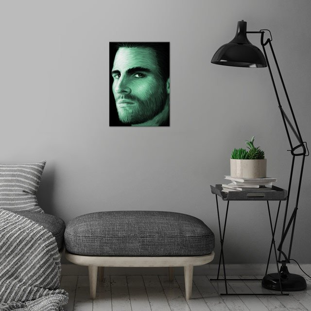 Stephen Amell 01 wall art is showcased in interior
