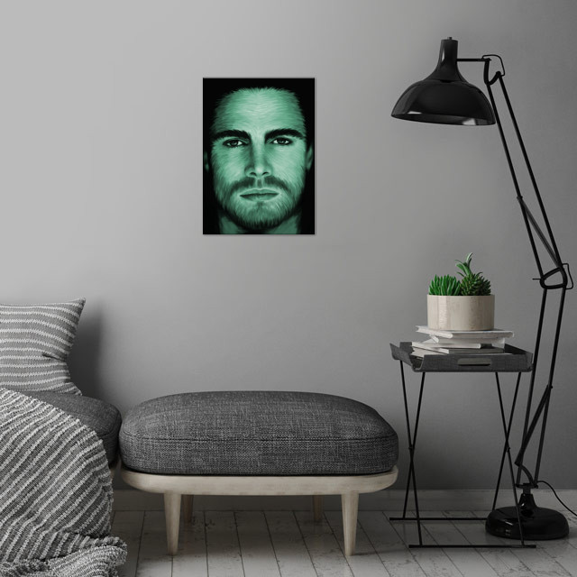 Stephen Amell 02 wall art is showcased in interior