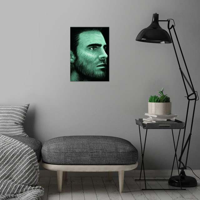 Stephen Amell 03 wall art is showcased in interior