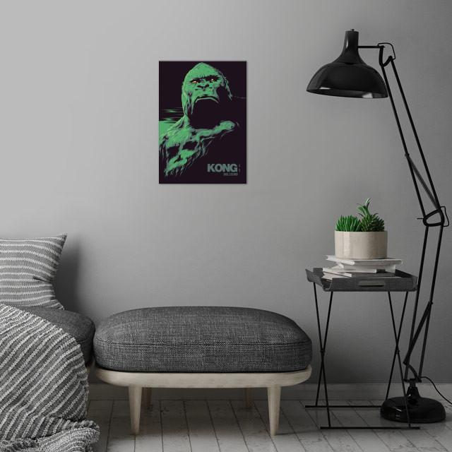KONG: Skull island - alternative movie poster wall art is showcased in interior