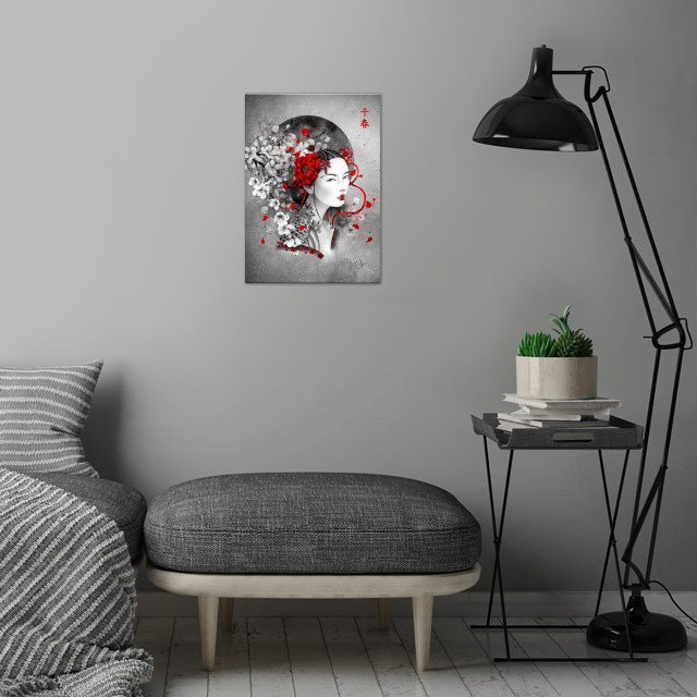 Chiharu means : a thousand springs wall art is showcased in interior