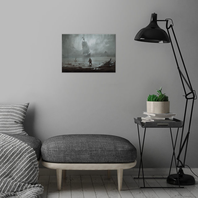Personal artwork wall art is showcased in interior