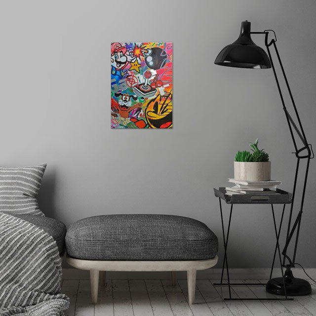 Retro gaming compilation with some classic faves!  wall art is showcased in interior
