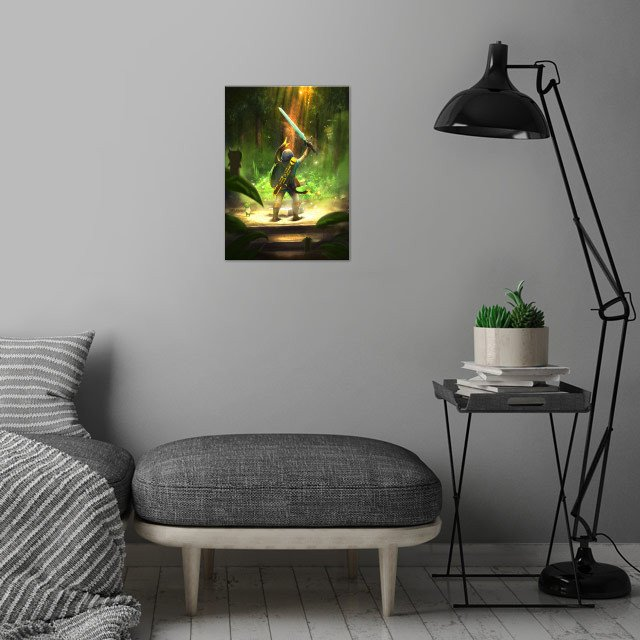 That epic moment when you grab the Master Sword :) wall art is showcased in interior
