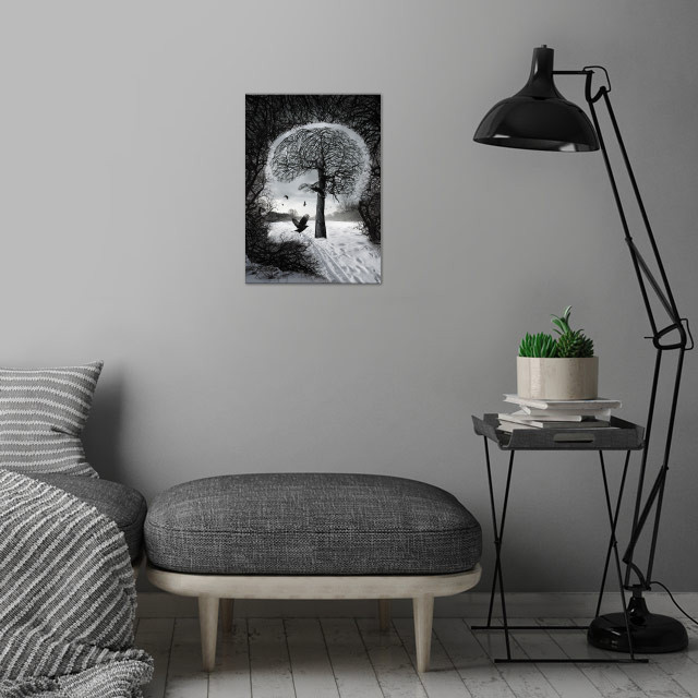 illustration 2014 wall art is showcased in interior