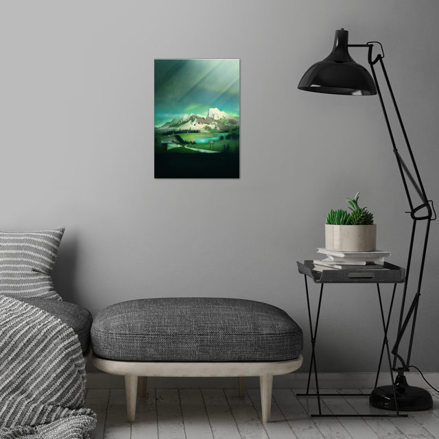 Alpine Enchantment | Digital Art wall art is showcased in interior