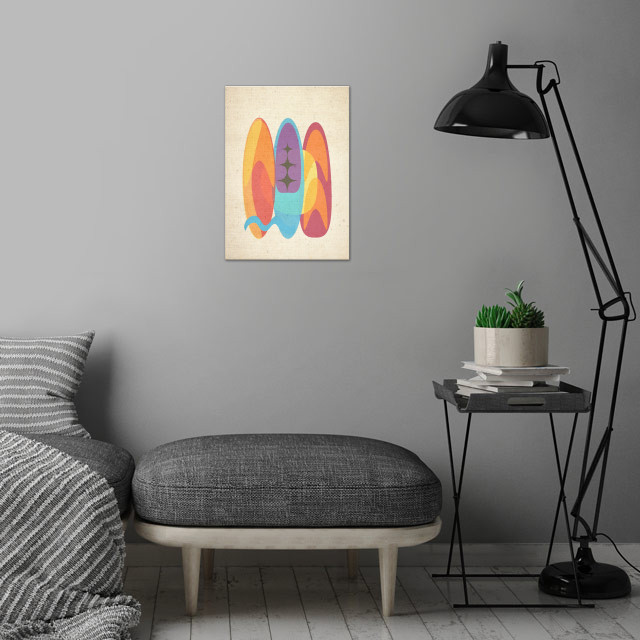 SURF 5 wall art is showcased in interior