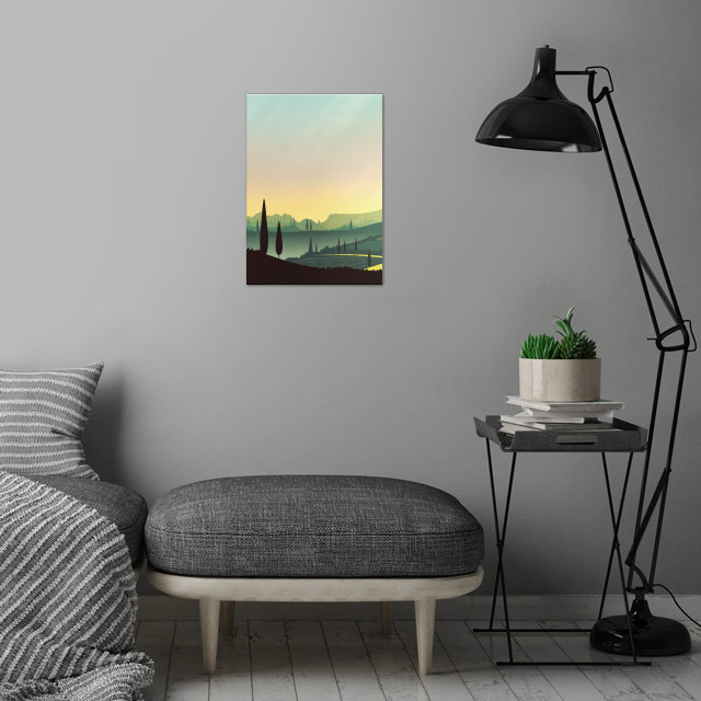 Tuscany Fairytale | Digital Art wall art is showcased in interior