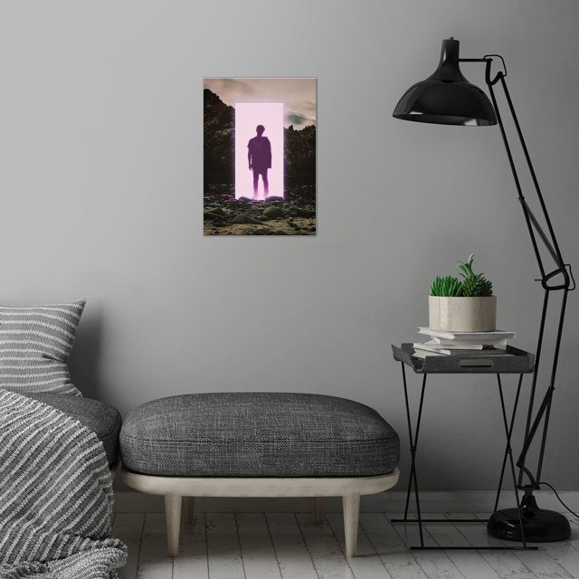The Middle Of Nowhere  wall art is showcased in interior