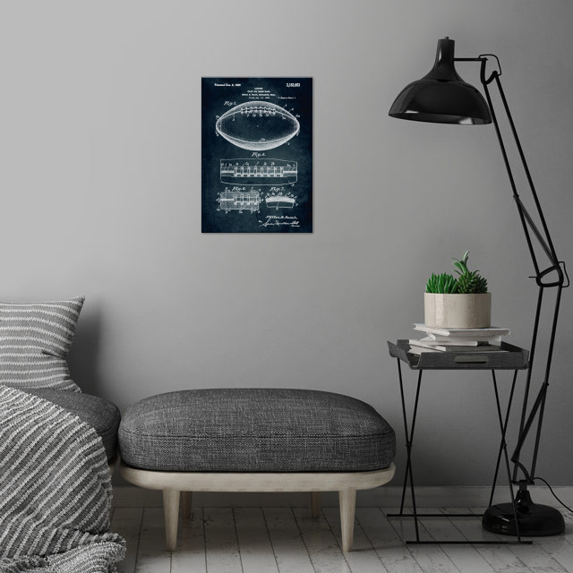 No099 - 1938 - Play or game ball - Inventor Milton B. B... wall art is showcased in interior