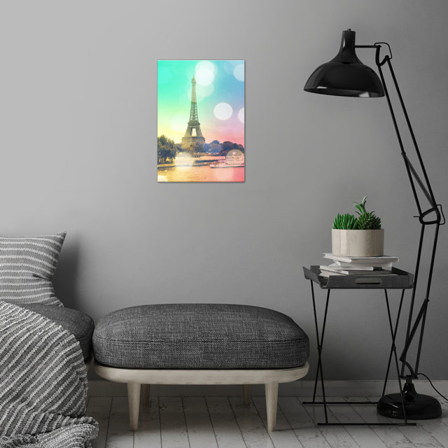 Romantically sweet photo of the Eiffel Tower in Paris.  wall art is showcased in interior