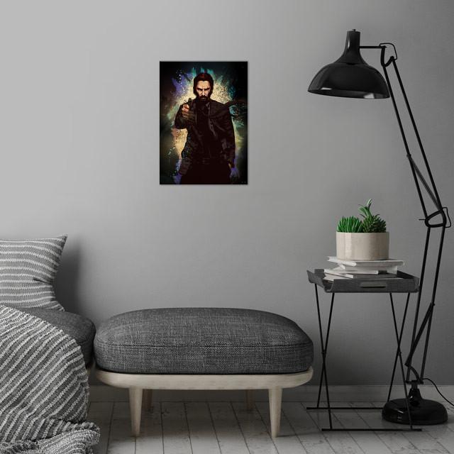 John Wick wall art is showcased in interior