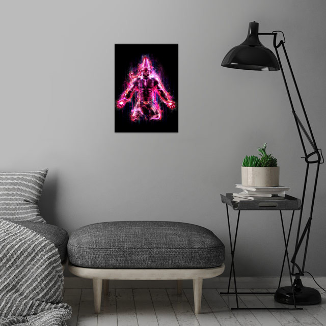 The next in my powerful warriors/villains of anime seri... wall art is showcased in interior