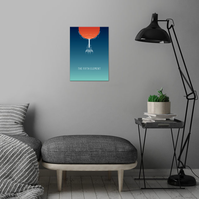 The Fifth Element - minimalist movie poster wall art is showcased in interior