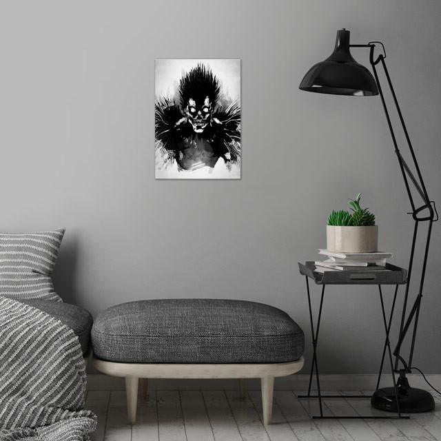 Bored Shinigami. wall art is showcased in interior