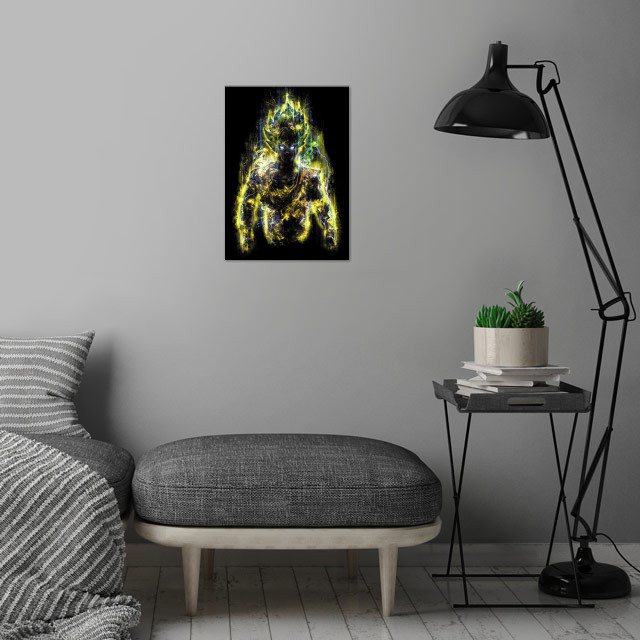 My first and most heroic powerful warrior art. The orig... wall art is showcased in interior