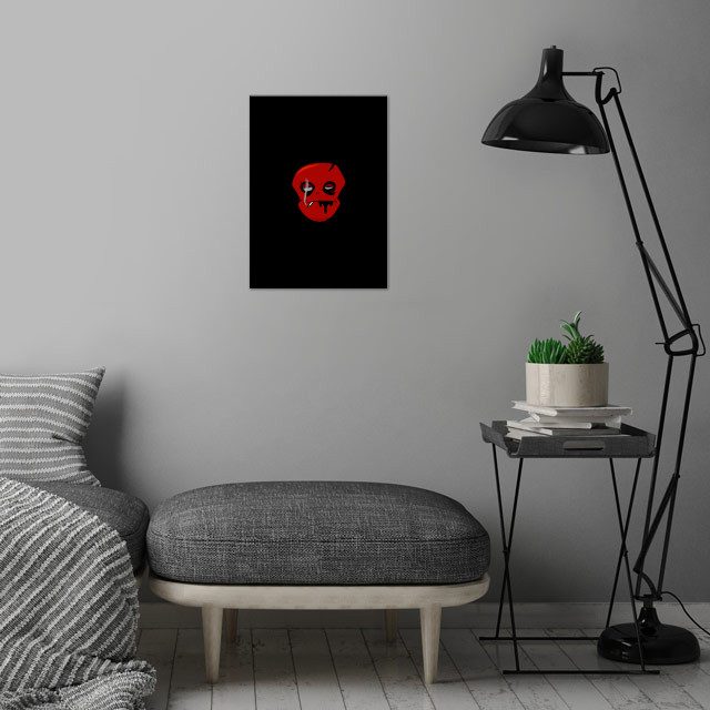 Red Hot Cigarette - Smoking is bad - wall art is showcased in interior