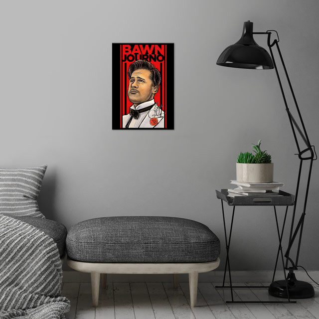 My illustration of the famous Italian stuntman Enzo Goralami  wall art is showcased in interior