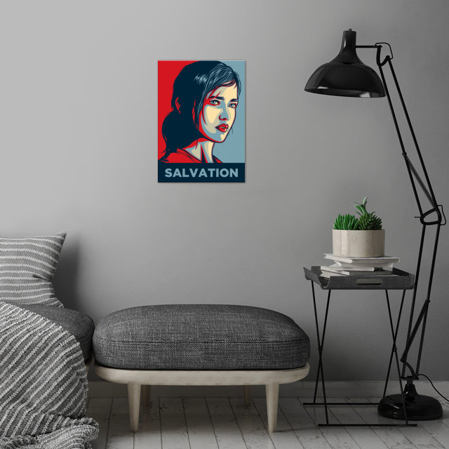 SALVATION Ellie's destiny, She's the last hope for hu .... wall art is showcased in interior