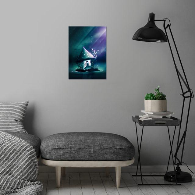 Magic Mush Room | Digital Art, 2017 wall art is showcased in interior