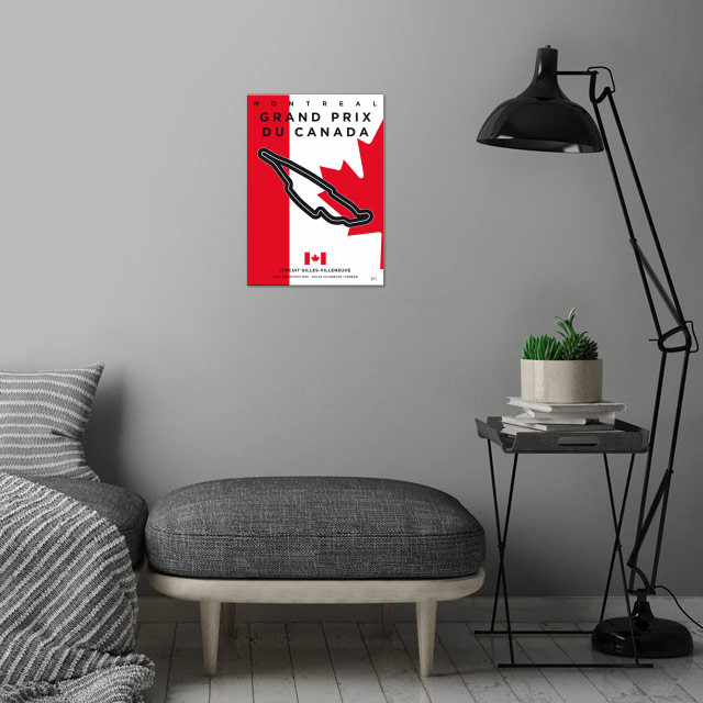 Awesome Minimalist Formula One Posters by chungkong.nl ... wall art is showcased in interior