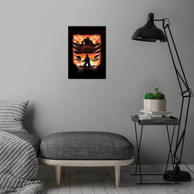 Sunset Attack wall art is showcased in interior