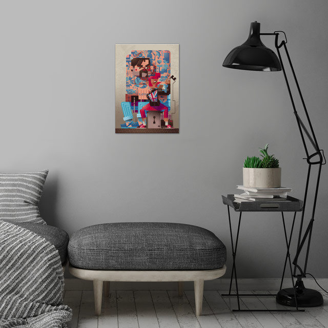 The Illustrated Man wall art is showcased in interior
