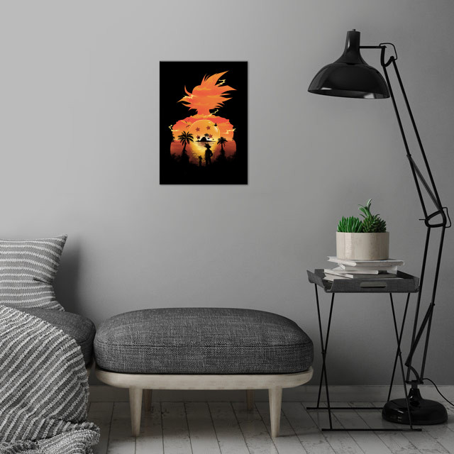 Beautiful Sunset wall art is showcased in interior