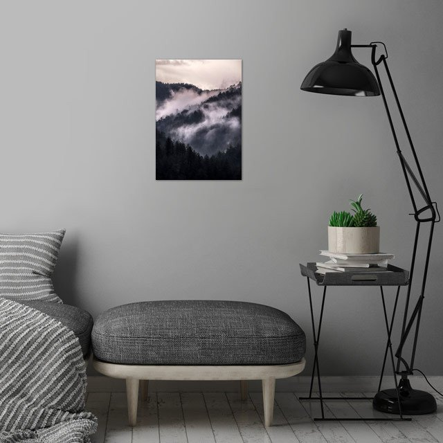 When the day begins wall art is showcased in interior