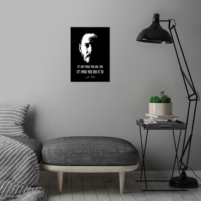 John Wick v1.0 wall art is showcased in interior