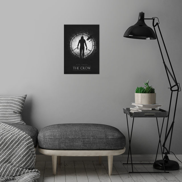 The Crow wall art is showcased in interior