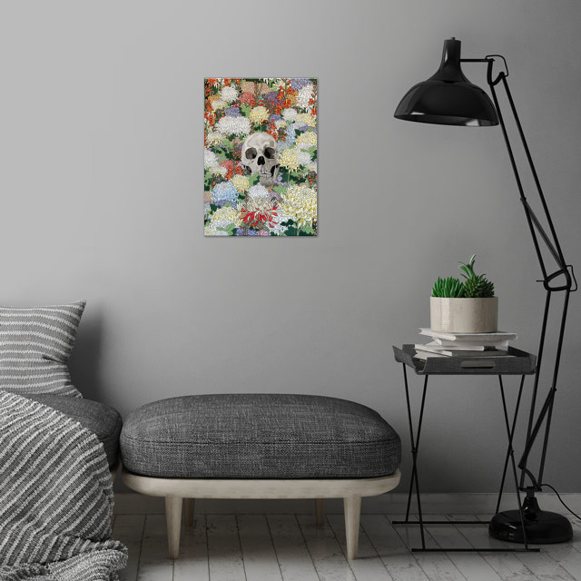 Life and Death wall art is showcased in interior