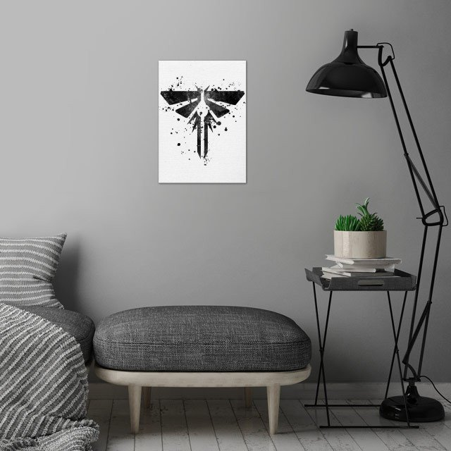 Last of Us - Firefly wall art is showcased in interior