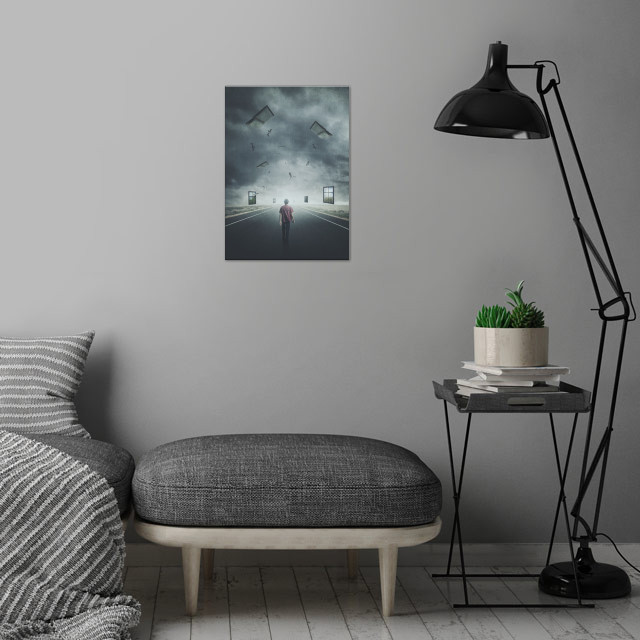 The Dream Walker wall art is showcased in interior
