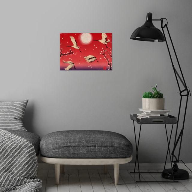 Durumi wall art is showcased in interior