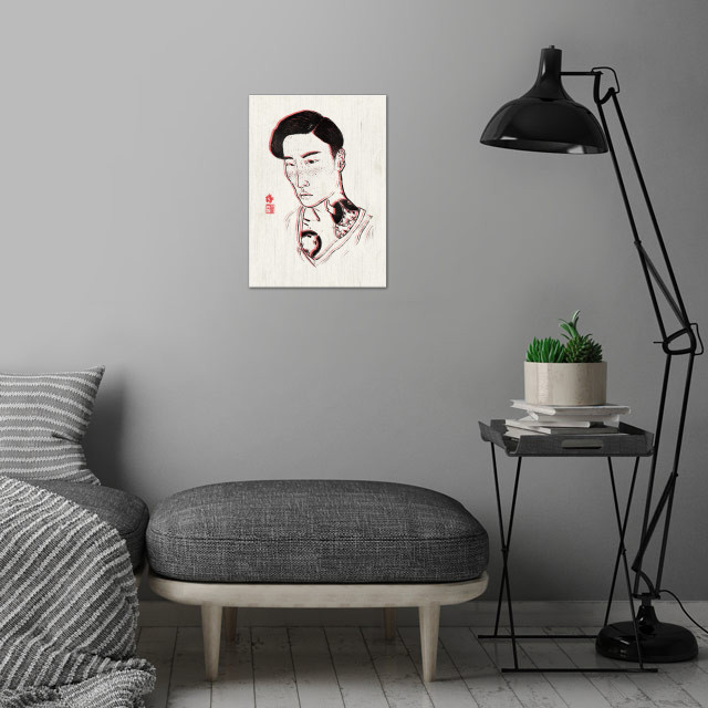 Repeat wall art is showcased in interior