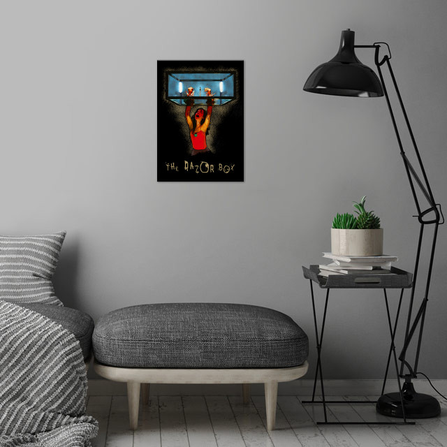 SAW - The Razor Box wall art is showcased in interior