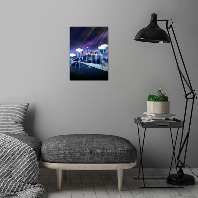 Rain Dance | Digital Art, 2017 wall art is showcased in interior