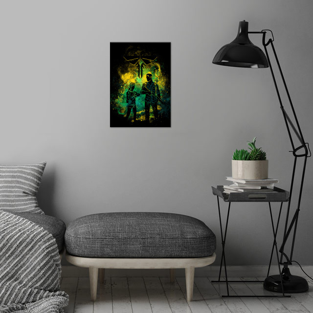 Firefly art wall art is showcased in interior