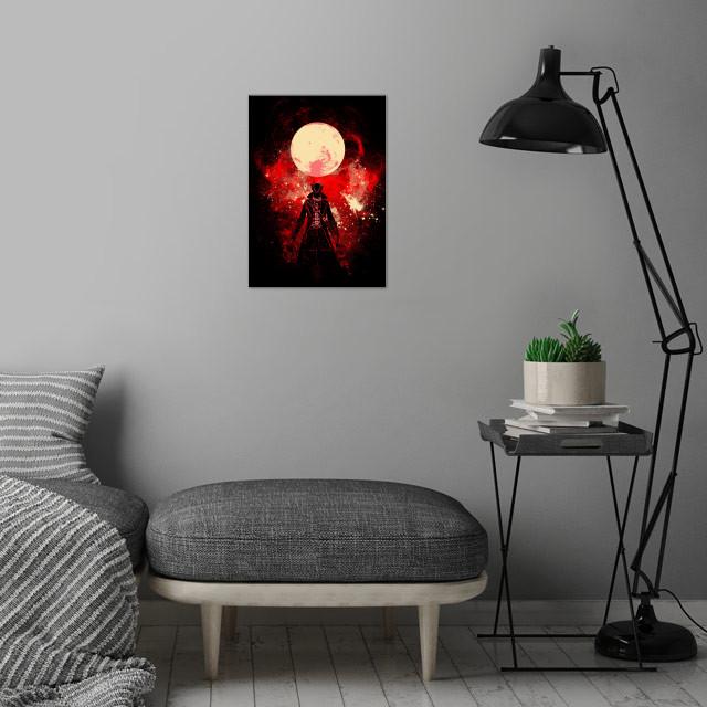 Blood Hunter Art wall art is showcased in interior