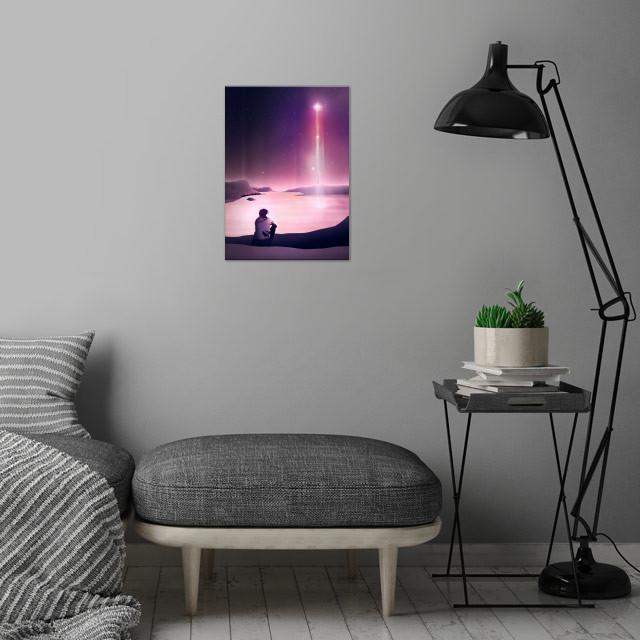 Rising Star   Digital Art, 2017 wall art is showcased in interior