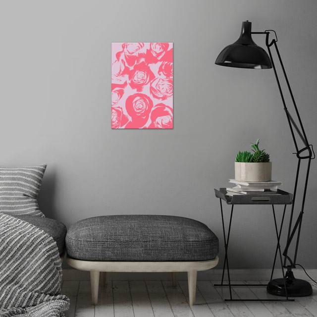 Rose Impressions wall art is showcased in interior