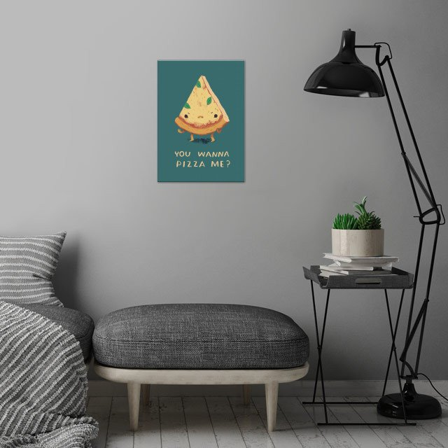 you wanna pizza me? wall art is showcased in interior