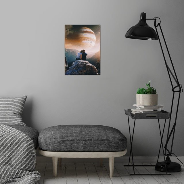 A Weird Planet  wall art is showcased in interior
