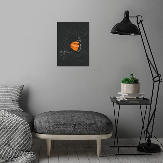 Interstellar wall art is showcased in interior