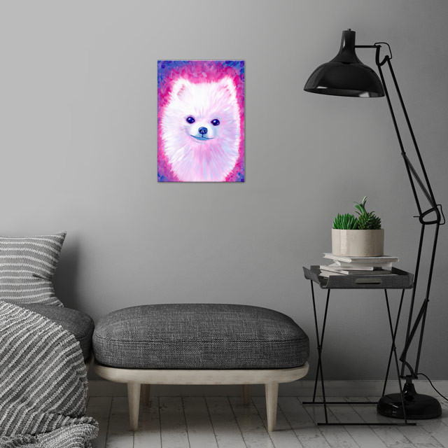 Marshmallow Floof wall art is showcased in interior