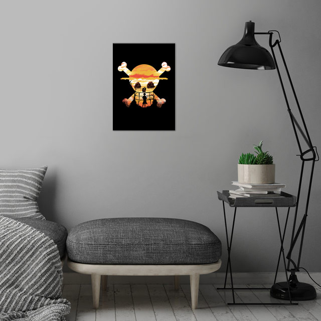 Straw Hat Crew wall art is showcased in interior