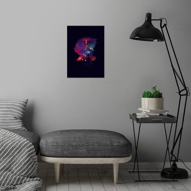 See you in the stars wall art is showcased in interior